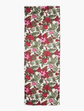 Talbots Holiday Floral Scarf
