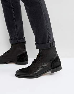 H By Hudson Yoakley Leather Lace Up Boots