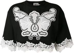 Fausto Puglisi Macramé insert cropped top