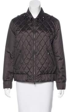 Brunello Cucinelli Silk Embellished Jacket