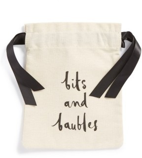 Kate Spade 'Bits And Baubles' Jewelry Pouch - White - WHITE - STYLE