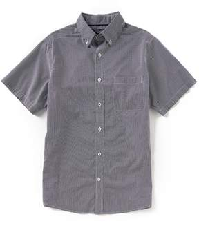 Roundtree & Yorke Trim Fit Short-Sleeve Dot Print Sportshirt