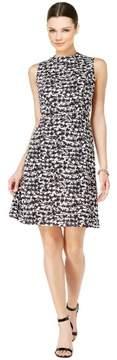 Nine West Houndstooth Sleeveless A-Line Dress