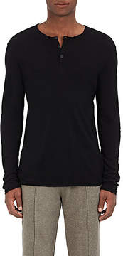 ATM Anthony Thomas Melillo Men's Frayed Knit Henley