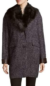 Dawn Levy Kaba Faux Fur-Trimmed Coat