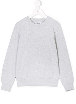 Moschino Kids logo question mark sweatshirt