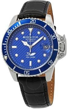 Heritor Pytheas Automatic Blue Carbon Fiber Dial Men's Watch