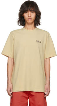 Acne Studios Beige Jaceye Smith Print T-Shirt