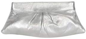 Lauren Merkin Silver Metallic Clutch