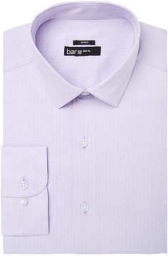 Bar III Men's Slim-Fit Stretch Easy-Care Lavender Herringbone Dot Dobby Dress Shirt, Created for Macy's