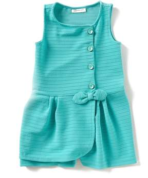 Bonnie Jean Little Girls 4-6X Textured Knit Romper