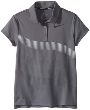 Nike Dry Polo Short Sleeve Print Girl's Short Sleeve Pullover