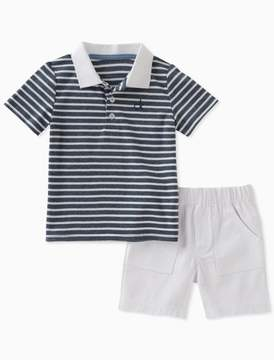 Calvin Klein boys 2-piece striped polo + shorts set