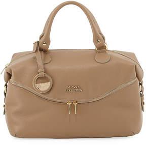 Versace Pebbled Leather Shoulder Tote Bag