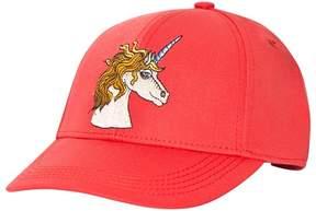 Mini Rodini Red Unicorn Embroidered Cap
