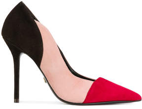 Twin-Set colourblock pointed pumps