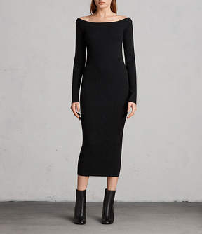 AllSaints Lavine Long Sleeve Dress