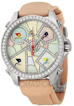 Jacob & co Jacob and Company Five Time Zones Diamond Multi-Colored Dial Unisex Watch