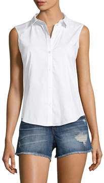 Armani Exchange Women's Solid Collared Shirt