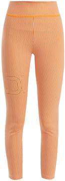 Fendi Striped logo-print performance leggings