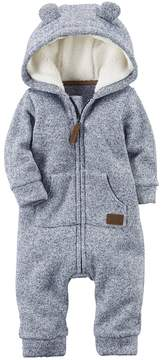 Carter's Baby Boy Sherpa Hooded Marled Coverall