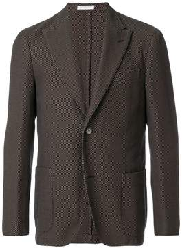 Boglioli waffle single breasted jacket