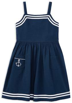 Polo Ralph Lauren Girls' Seersucker Anchor Dress - Little Kid