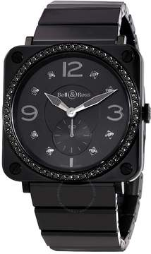 Black Diamond Bell And Ross Aviation Dial Ceramic Unisex Watch