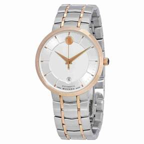 Movado 1881 Automatic Silver Dial Two-tone Men's Watch 0607063
