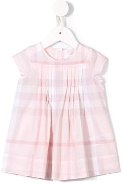 Burberry checked pleated dress