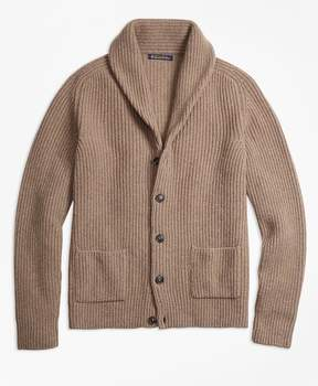 Brooks Brothers Merino Wool Shawl-Collar Cardigan