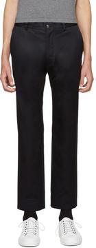 Moncler Gamme Bleu Blue Twill Trousers