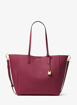 Michael Kors Penny Coated Twill Convertible Tote - PURPLE - STYLE