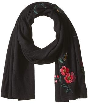 Lauren Ralph Lauren Chrysanthemum Embroidered Scarf Scarves