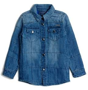 GUESS Boy's Quilted Denim Shirt (2-6x)