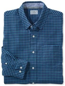 L.L. Bean L.L.Bean Stretch Oxford Shirt, Slightly Fitted Gingham
