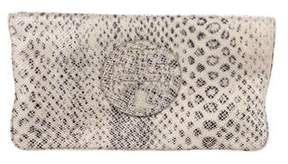 Tory Burch Embossed Leather Reva Clutch - ANIMAL PRINT - STYLE