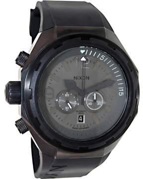 Nixon Men's Steelcat A313001 Birch Carne Silicone Swiss Quartz Watch