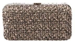 Salvatore Ferragamo Woven Leather Clutch