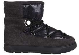 Moncler Women's Black Leather Ankle Boots.
