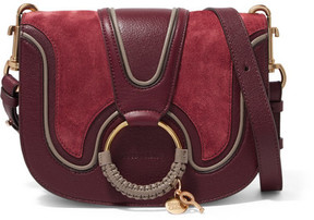 See by Chloé - Hana Small Suede And Leather Shoulder Bag - Burgundy