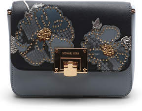 Michael Kors Pale Blue & Navy Tina Leather Clutch - PALE - STYLE