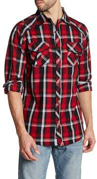 Burnside Regular Fit Spread Collar Plaid Shirt