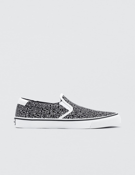 Kenzo Flying Logo Slip-On Sneakers