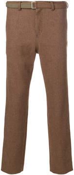 Sacai Herringbone belted trousers
