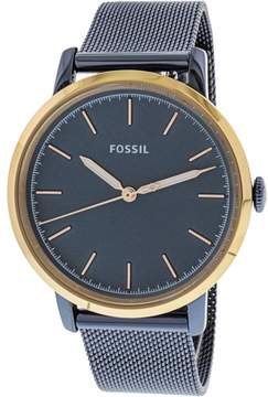 Fossil Women's Neely ES4312 Blue Stainless-Steel Japanese Quartz Fashion Watch