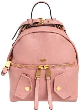 Moschino Medium Pocket Leather Backpack