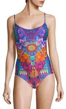 Luli Fama One-Piece Multicolored Floral Swimsuit