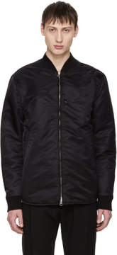 Acne Studios Black Mylon Shine Bomber Jacket