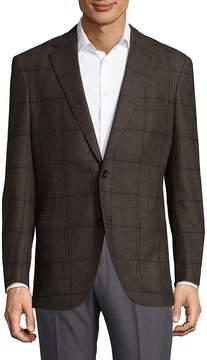 Luciano Barbera Men's Checkered Jacket